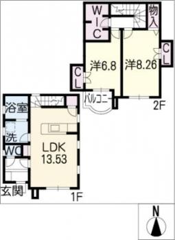 間取図/区画図:※部屋により間取り変更の可能性有